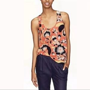 🌺 New J.CREW Twist Back Hibiscus Floral Top Cami
